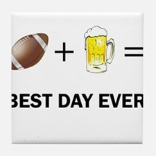 Football and Beer Tile Coaster