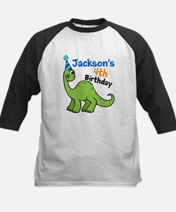 Dinosaur Birthday Kids Baseball Jersey