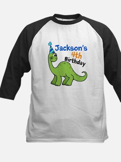 Dinosaur Birthday Kids Baseball Jersey