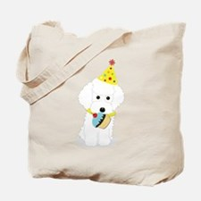 Party Poodle Birthday Dog Tote Bag