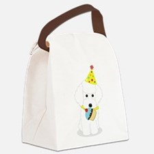 Party Poodle Birthday Dog Canvas Lunch Bag