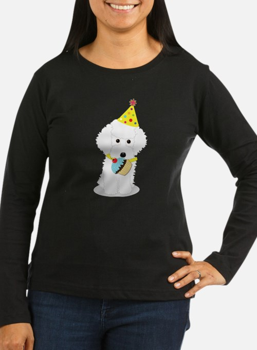 Party Poodle Birthday Dog Long Sleeve T-Shirt