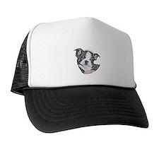 Boston Terrier Puppy Trucker Hat