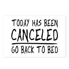 Today has been canceled. Go back to bed Postcards