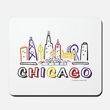 Cute Chicago Skyline Mousepad
