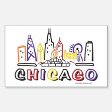 Cute Chicago Skyline Decal
