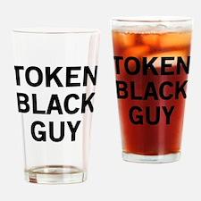 Token Black Guy Drinking Glass