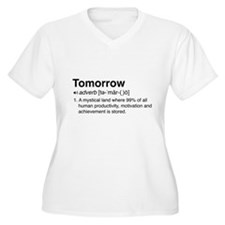 Tomorrow Definition Plus Size T-Shirt