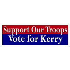 Support Our Troops: Vote Kerry (sticker)