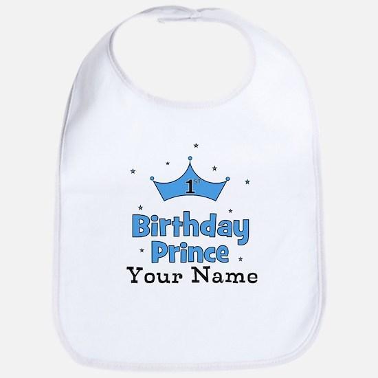 1st Birthday Prince CUSTOM Your Name Bib