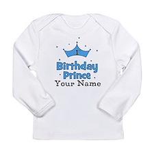1st Birthday Prince CUSTOM Your Name Long Sleeve T