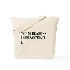 Top 10 Reasons I Procrastinate: 1. Tote Bag