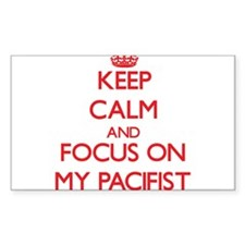 Keep Calm and focus on My Pacifist Decal