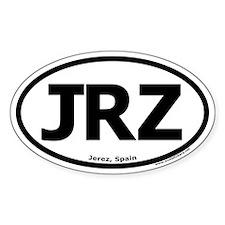 """Jerez, Spain """"JRZ"""" Oval Decal"""