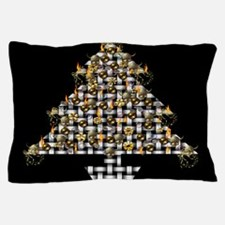 Metal Weave Skulls Tree Pillow Case