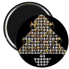 Metal Weave Skulls Tree Magnet