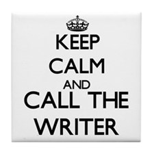 Cute Writers keep calm Tile Coaster