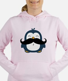 Mustache Penguin Trend Women's Hooded Sweatshirt