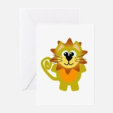 Cute Goofkins Goofy Lion Greeting Cards (Package o