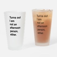 Turns out I am not an afternoon person, either. Dr