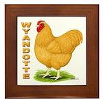 Buff Wyandotte Cock Framed Tile