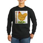 Buff Wyandotte Cock Long Sleeve Dark T-Shirt