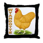 Buff Wyandotte Cock Throw Pillow