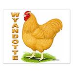 Buff Wyandotte Cock Small Poster