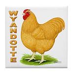 Buff Wyandotte Cock Tile Coaster