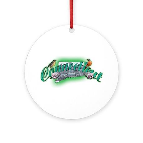 Connecticut Ornament (Round)