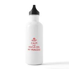 Cute I heart peaches Water Bottle