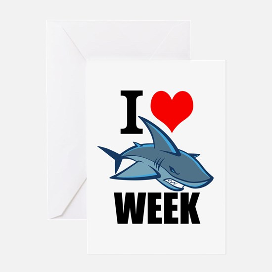 I 3 shark week Greeting Cards