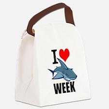 I 3 shark week Canvas Lunch Bag