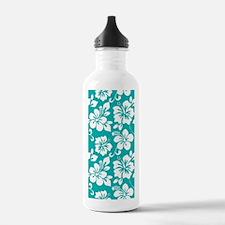 Turquoise Hawaiian Hibiscus Water Bottle