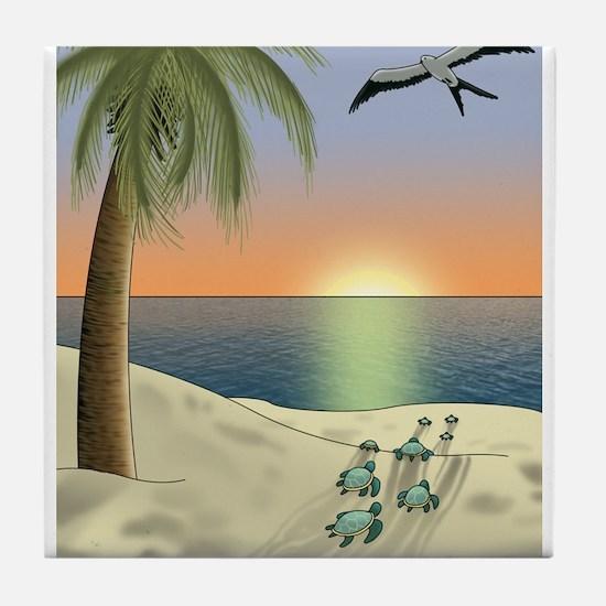 Sunset Beach Tile Coaster