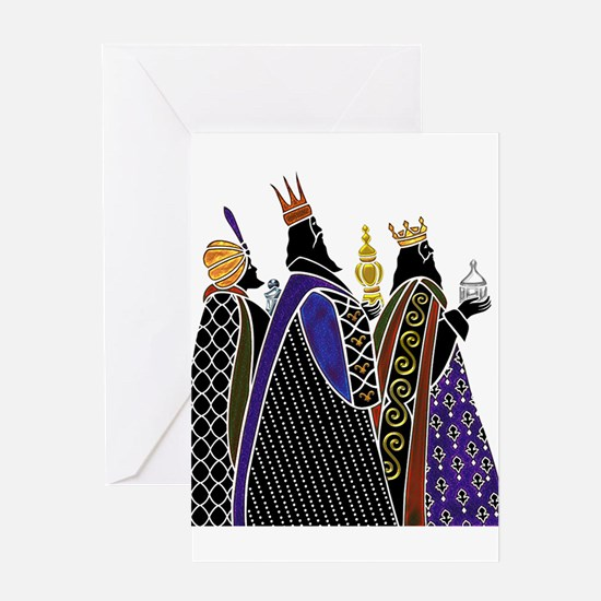 Three Magi Bearing Gifts Greeting Cards