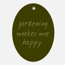 Gardening Oval Ornament