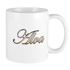 Alva in Gold Mugs