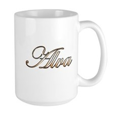 Alva in Gold Mugs