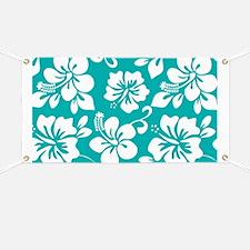 Turquoise Hawaiian Hibiscus Banner