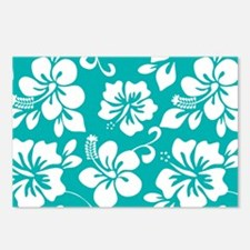 Turquoise Hawaiian Hibiscus Postcards (Package of