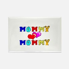 Mommy Loves Mommy Cute Rectangle Magnet