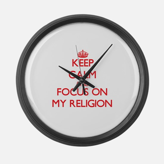 Unique I love my higher education administrator Large Wall Clock