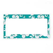 Turquoise Hawaiian Hibiscus License Plate Holder