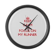Funny Keep calm carry my wayward son Large Wall Clock