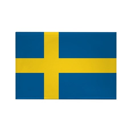 Sweden Rectangle Magnet (100 pack)