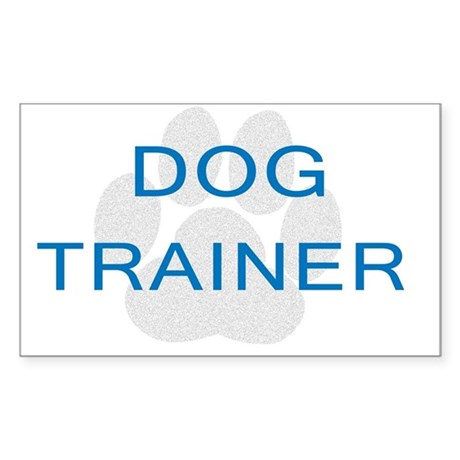 Dog Trainer Opinions Sticker (Rectangle)