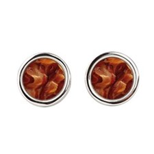 bacon standard Round Cufflinks