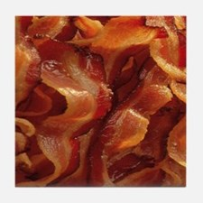 bacon standard Tile Coaster