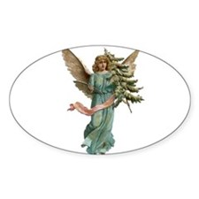 Vintage Angel with Tree Decal